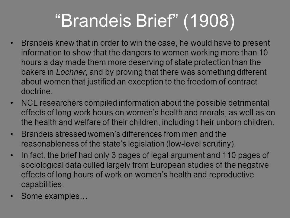 Brandeis Brief (1908)