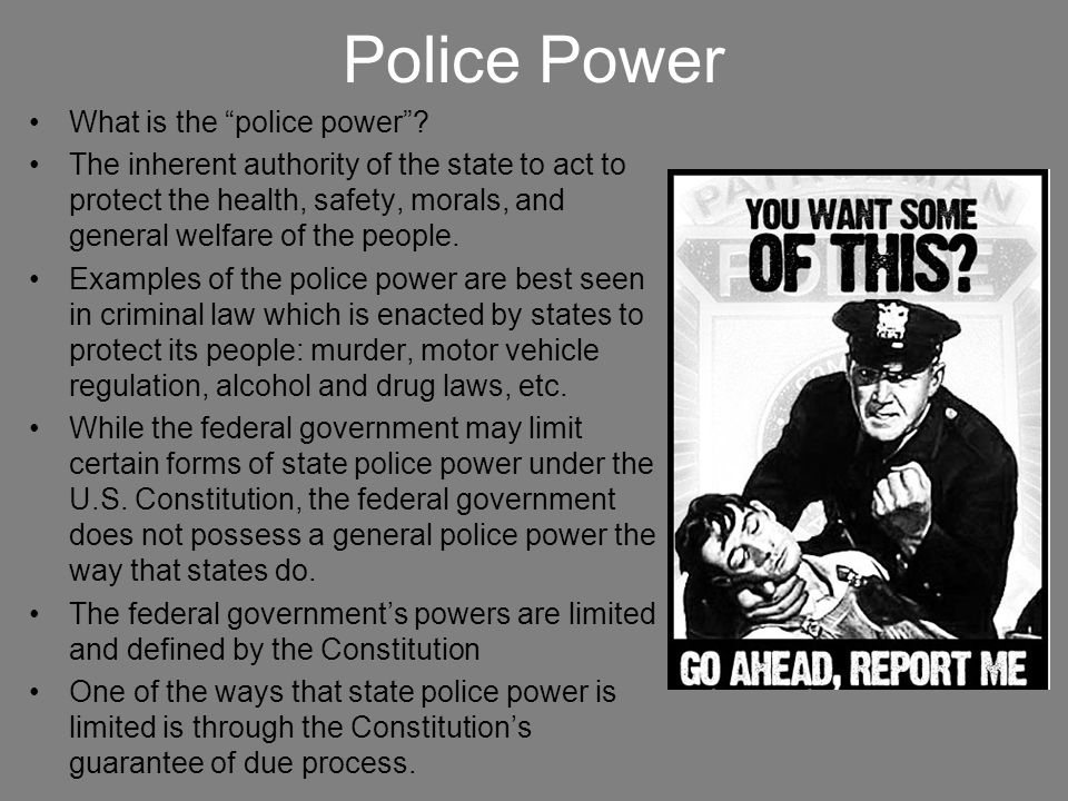 Police Power What is the police power