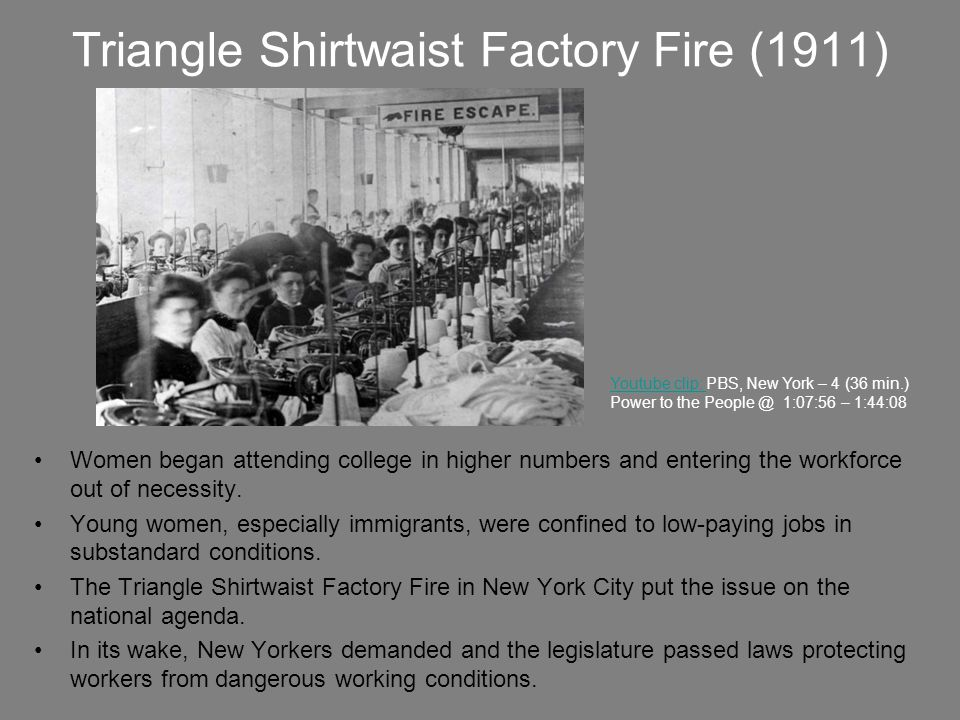 Triangle Shirtwaist Factory Fire (1911)