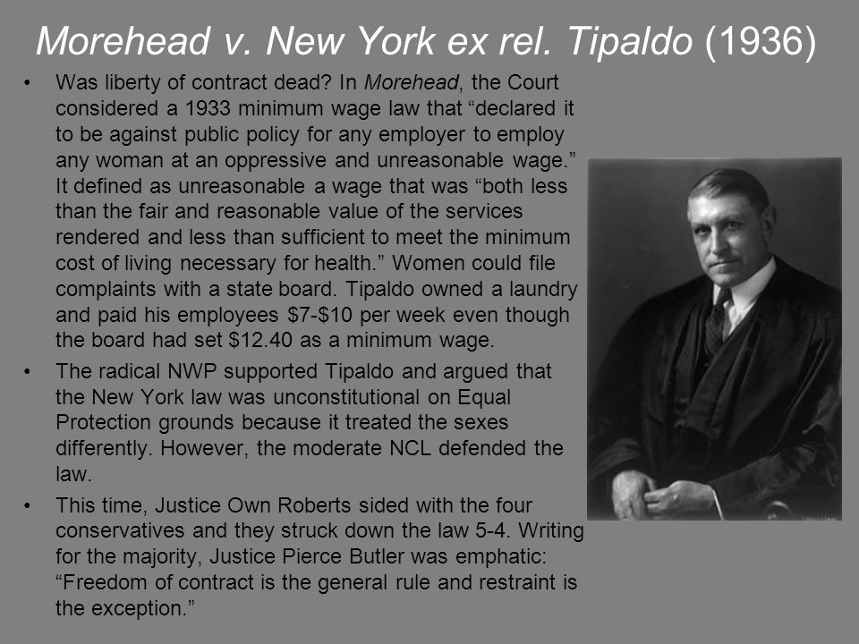 Morehead v. New York ex rel. Tipaldo (1936)