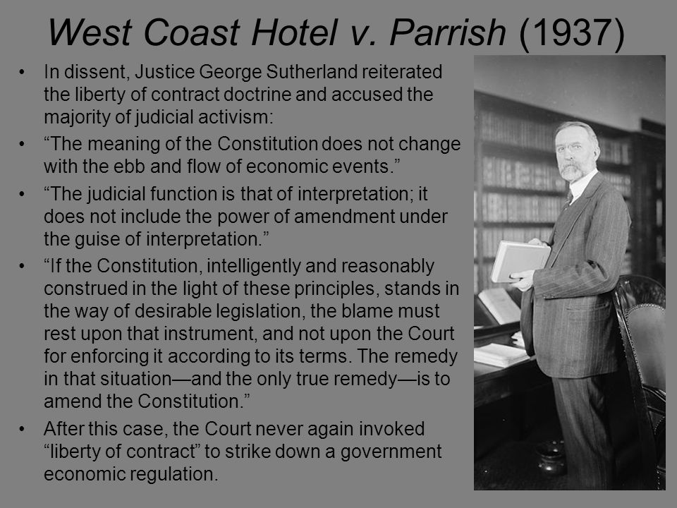 West Coast Hotel v. Parrish (1937)