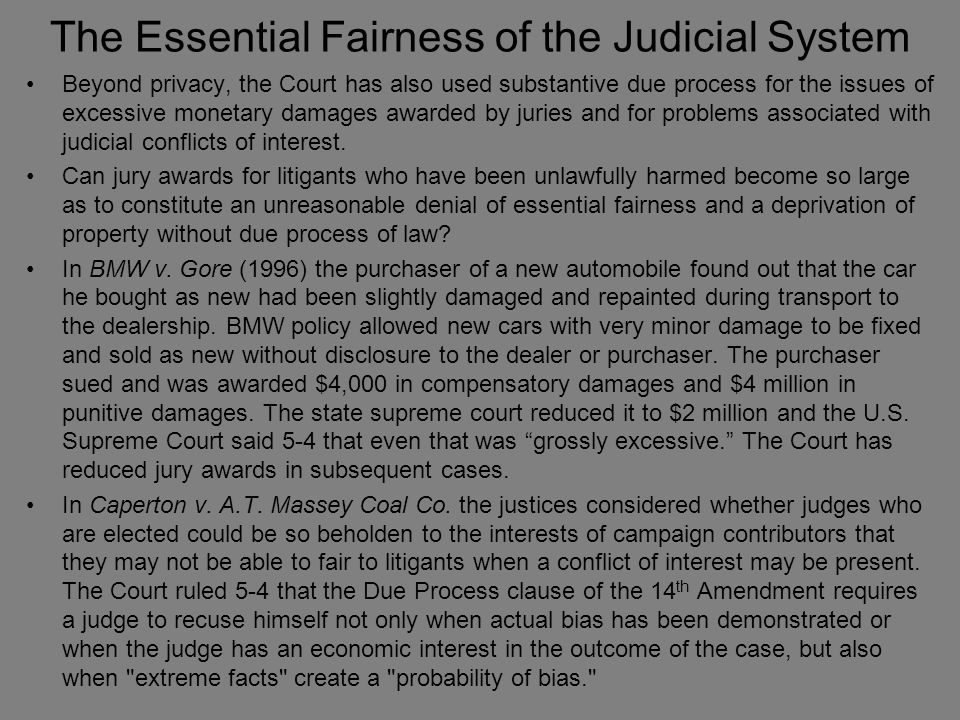 The Essential Fairness of the Judicial System