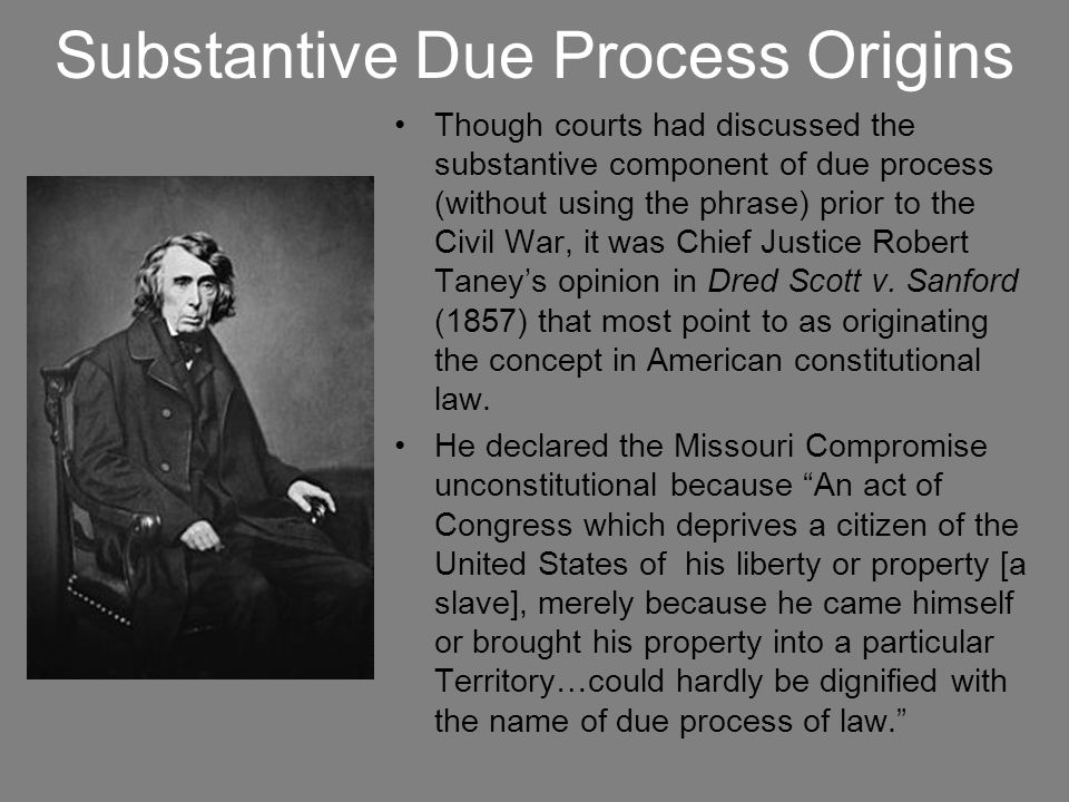 Substantive Due Process Origins