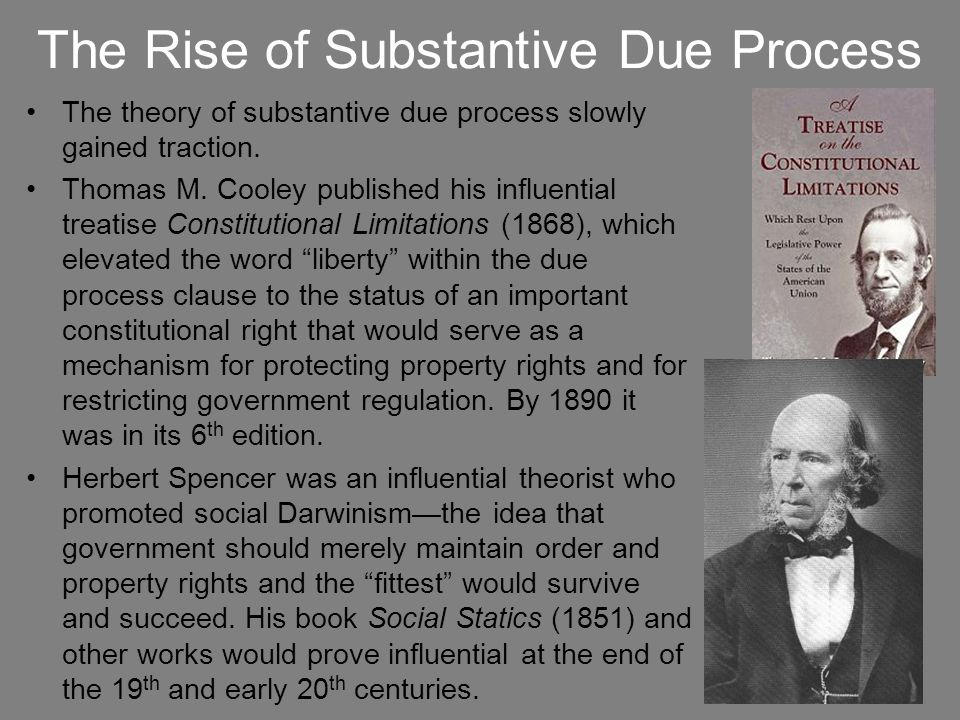 The Rise of Substantive Due Process