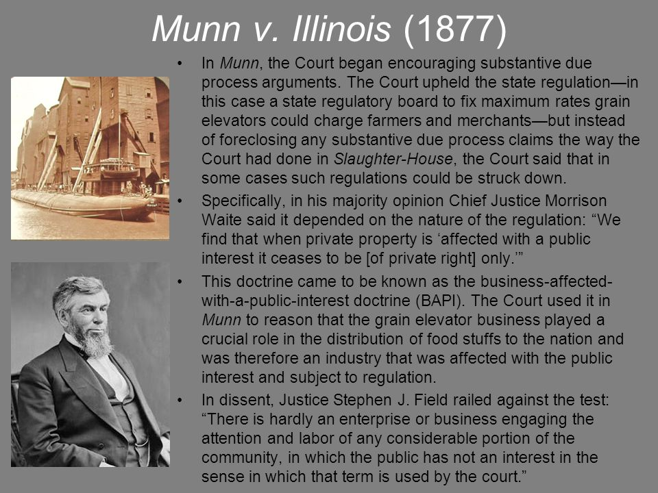 Munn v. Illinois (1877)