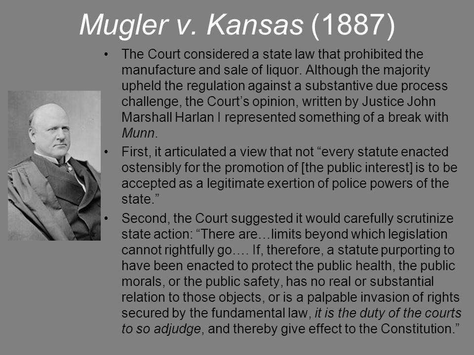 Mugler v. Kansas (1887)
