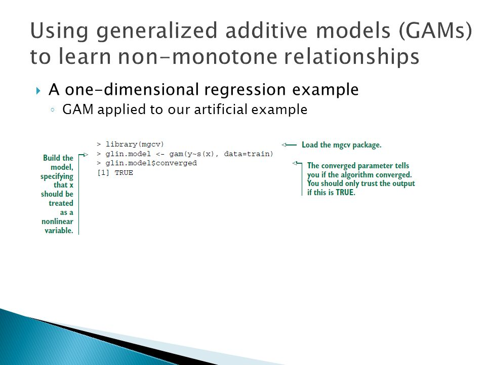 Using generalized additive models (GAMs) to learn non-monotone relationships