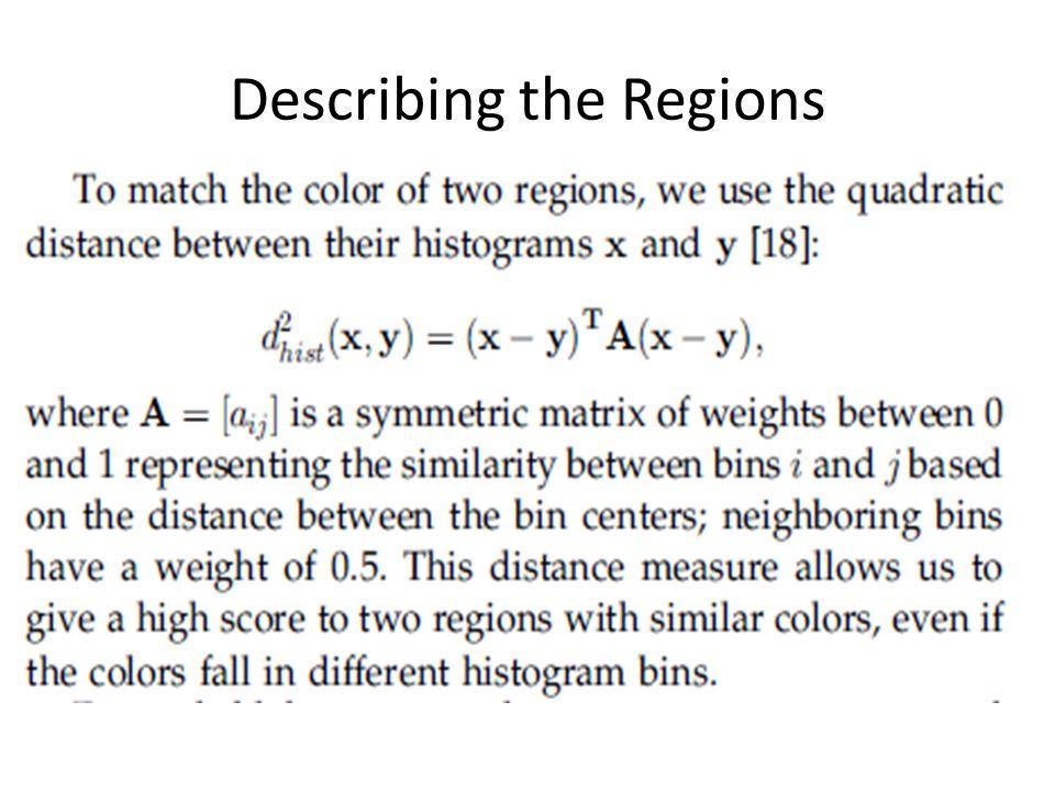 Describing the Regions