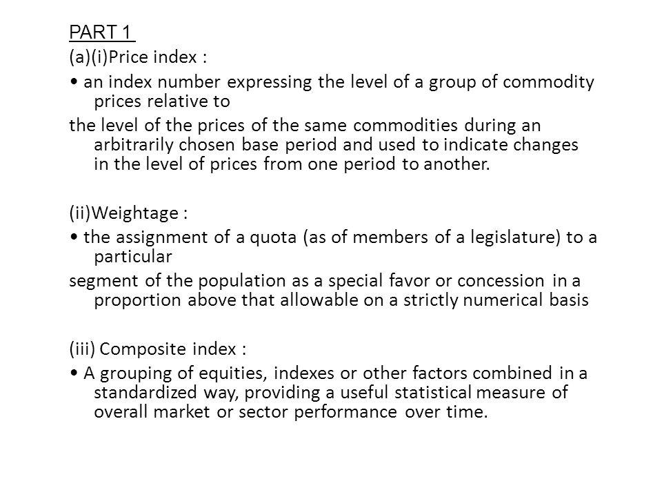 (iii) Composite index :