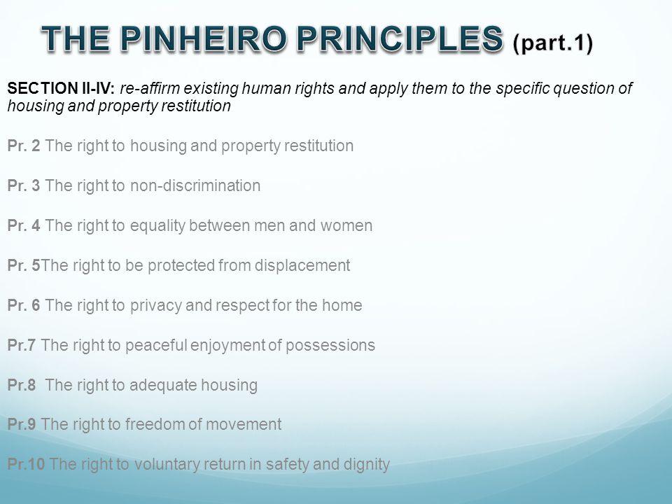 THE PINHEIRO PRINCIPLES (part.1)