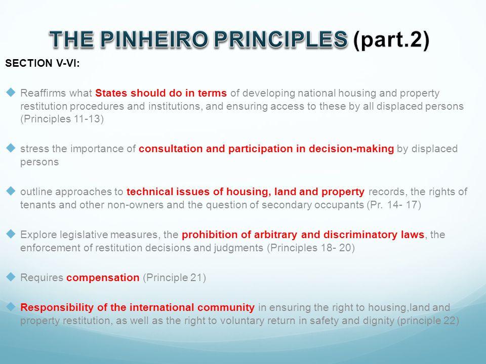THE PINHEIRO PRINCIPLES (part.2)