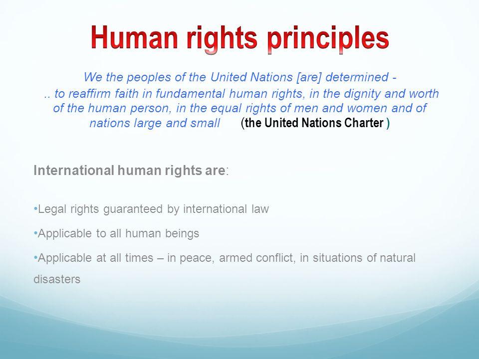 Human rights principles