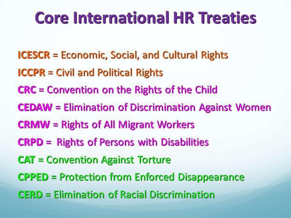 Core International HR Treaties