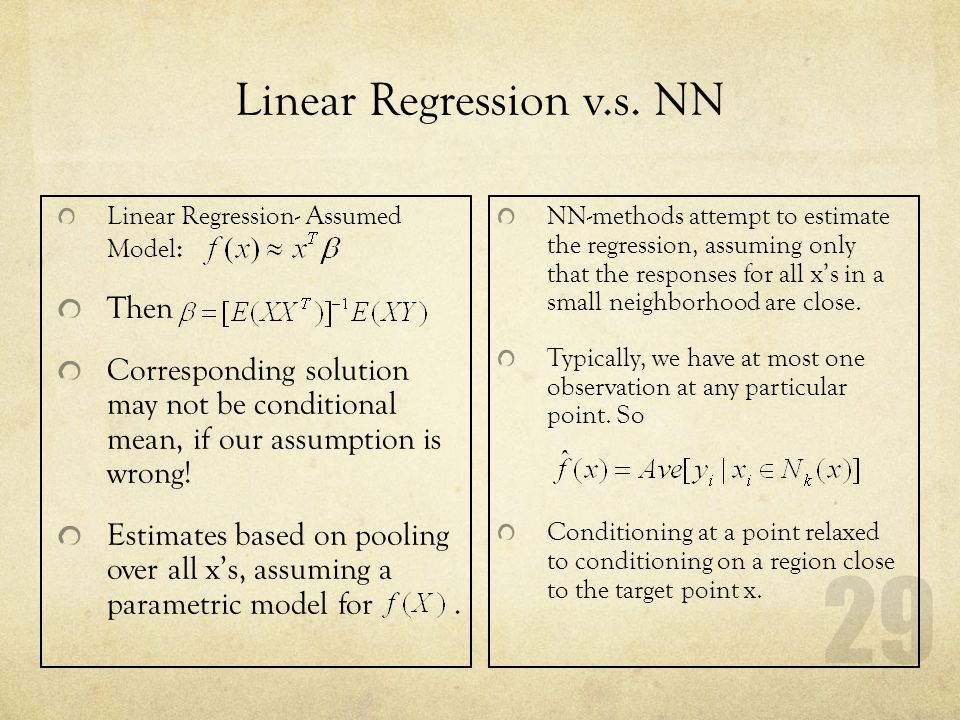Linear Regression v.s. NN