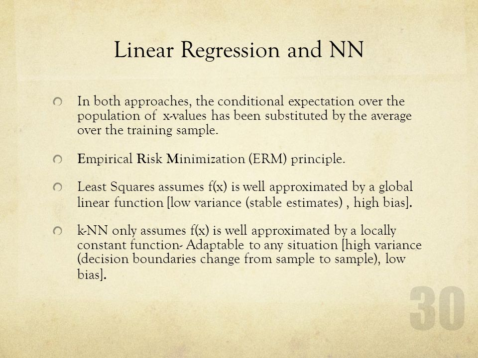 Linear Regression and NN