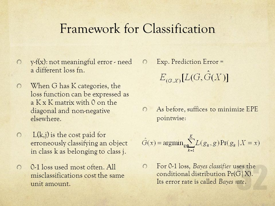 Framework for Classification