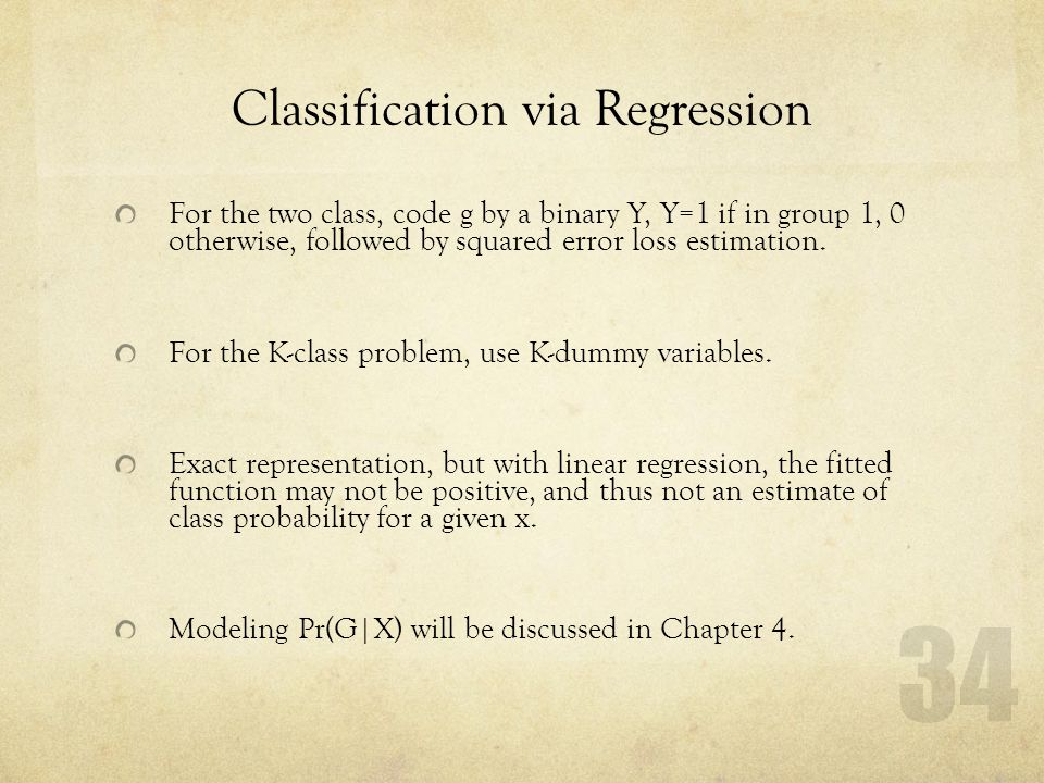 Classification via Regression