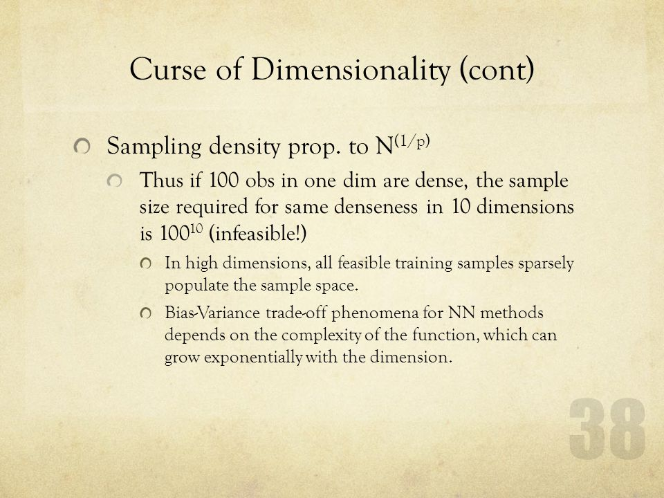 Curse of Dimensionality (cont)