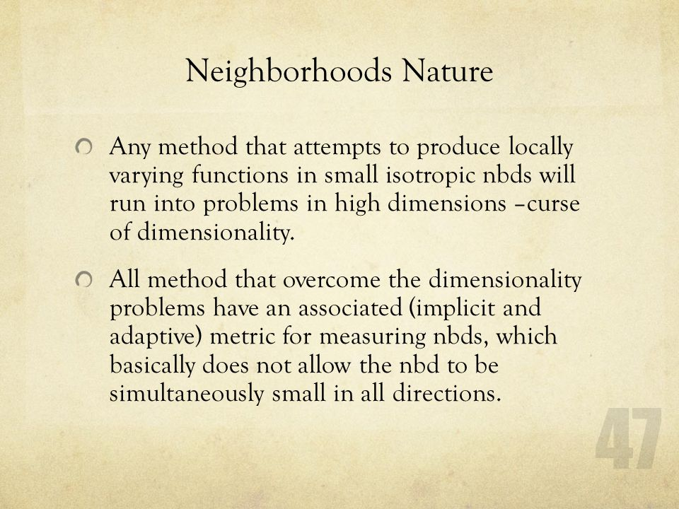 Neighborhoods Nature