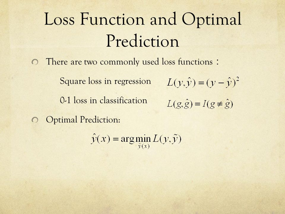 Loss Function and Optimal Prediction