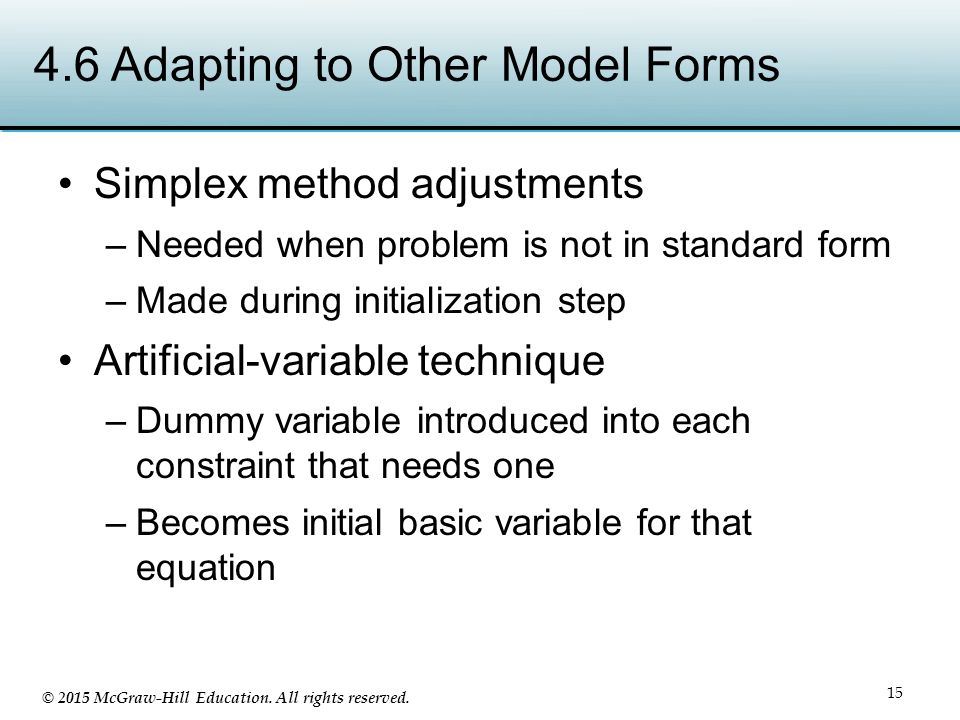 4.6 Adapting to Other Model Forms