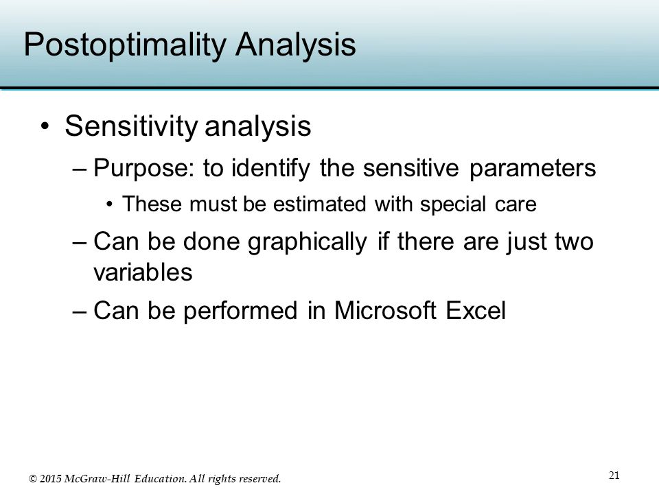 Postoptimality Analysis