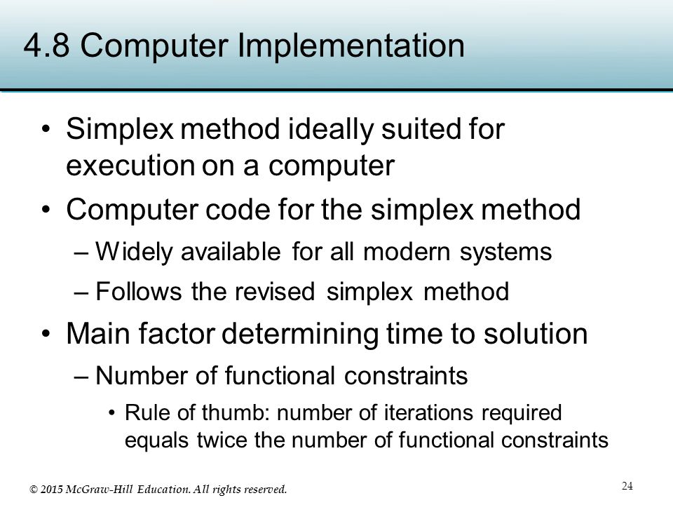 4.8 Computer Implementation