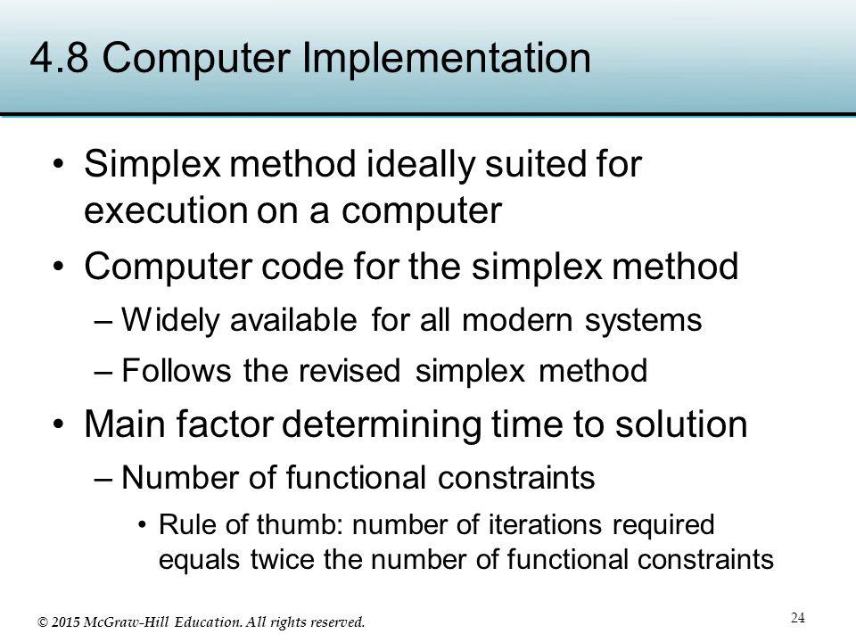 4.8 Computer Implementation