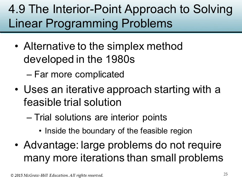 4.9 The Interior-Point Approach to Solving Linear Programming Problems