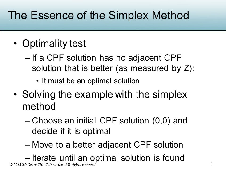 The Essence of the Simplex Method