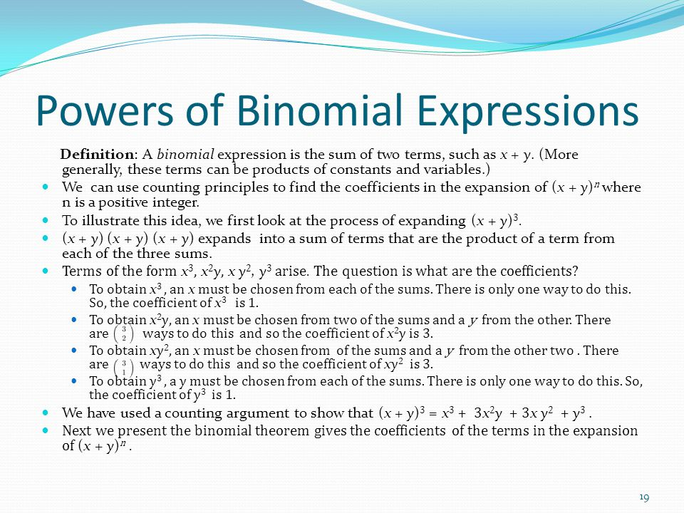 Powers of Binomial Expressions