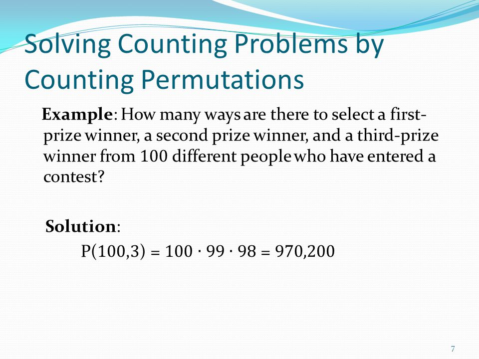 Solving Counting Problems by Counting Permutations