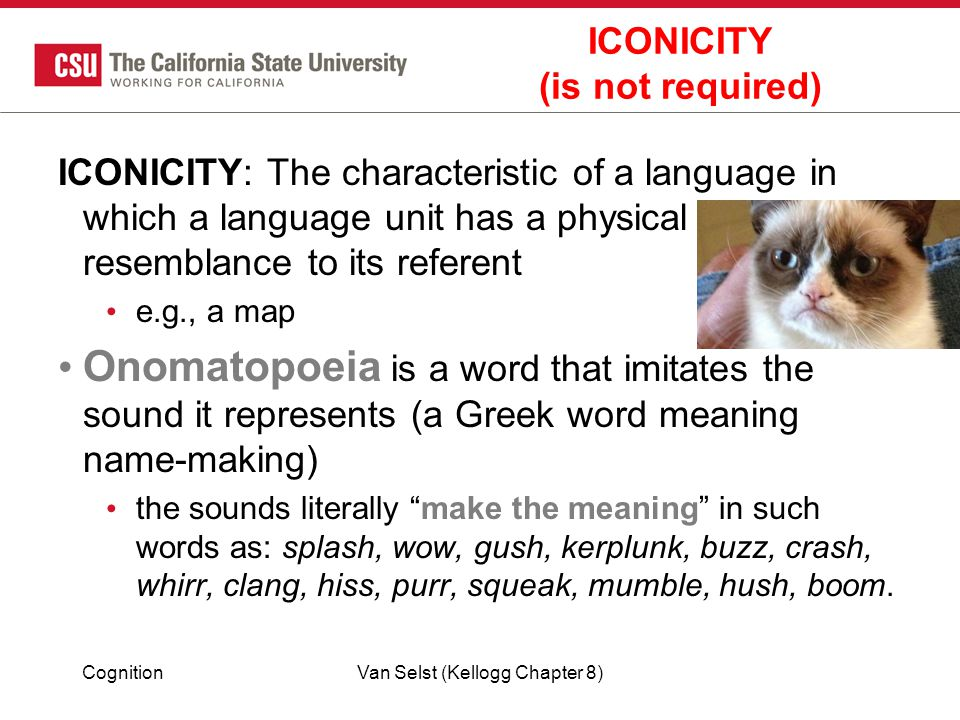ICONICITY (is not required)