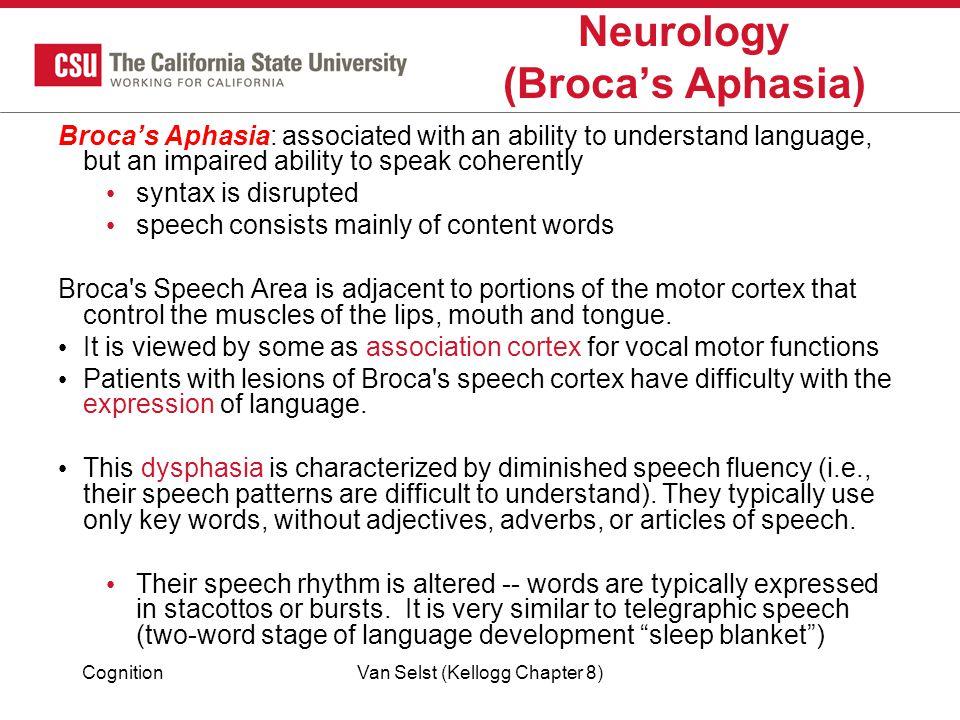 Neurology (Broca's Aphasia)