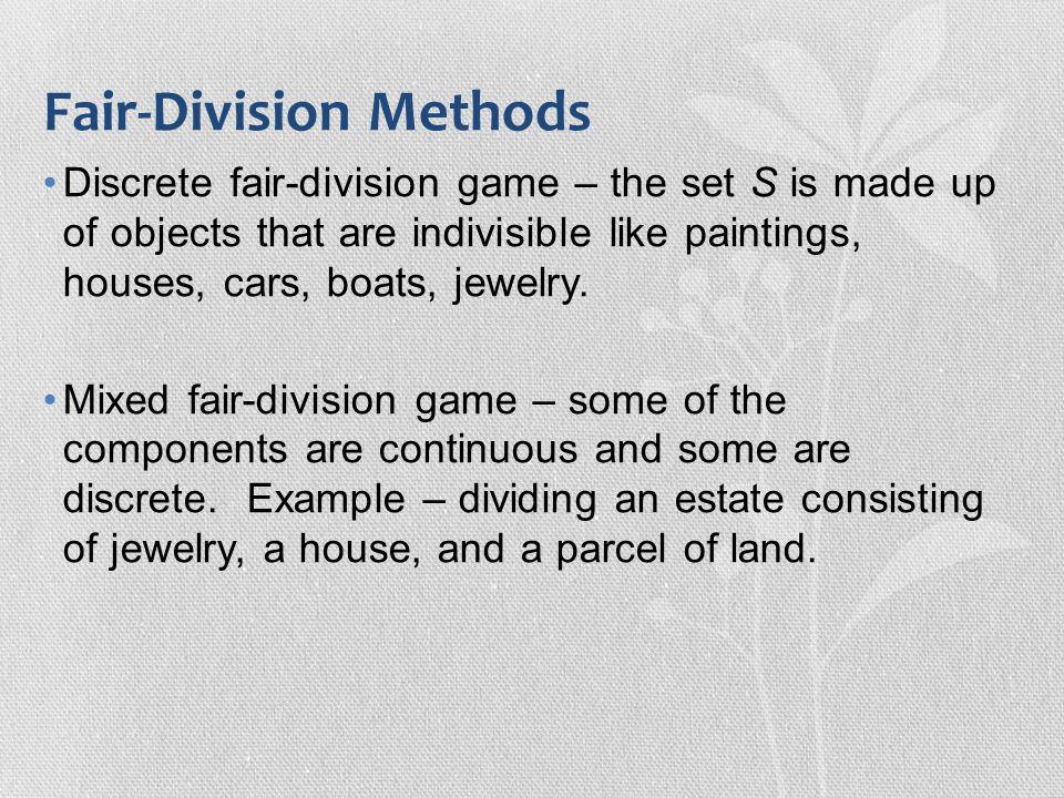 Fair-Division Methods