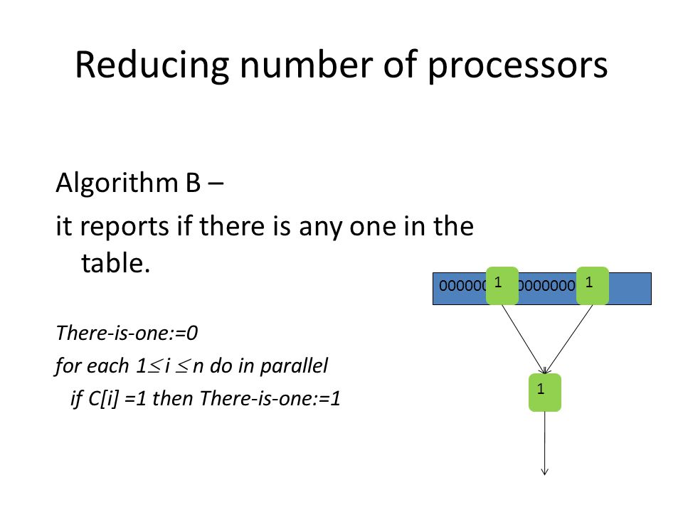 Reducing number of processors