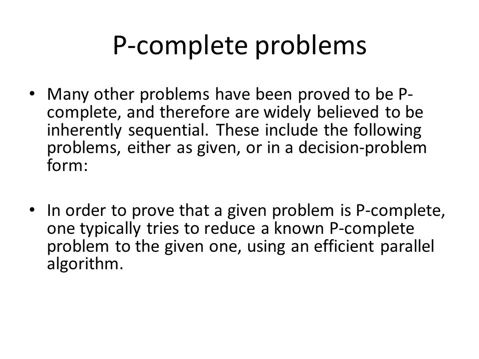 P-complete problems