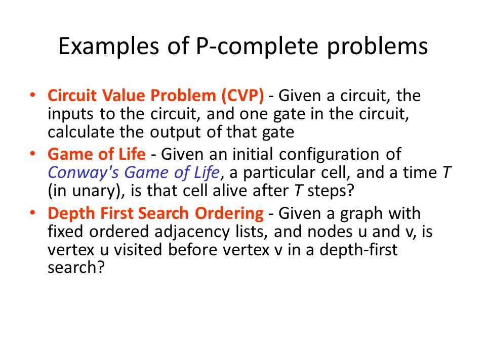 Examples of P-complete problems