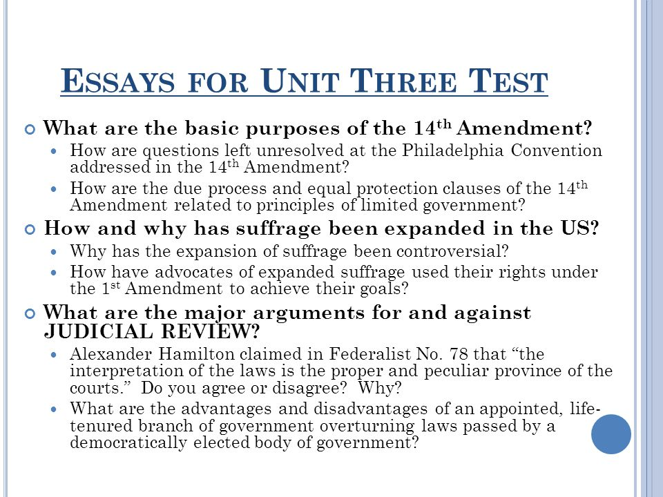 unit three lesson how has the due process clause of the th  2 essays