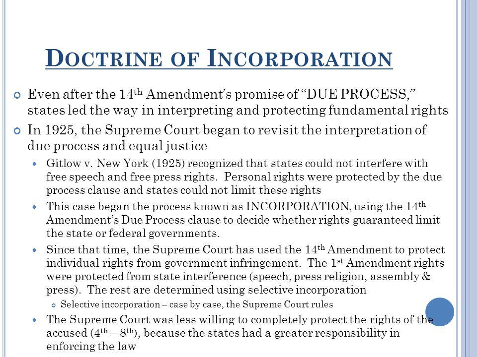 Doctrine of Incorporation