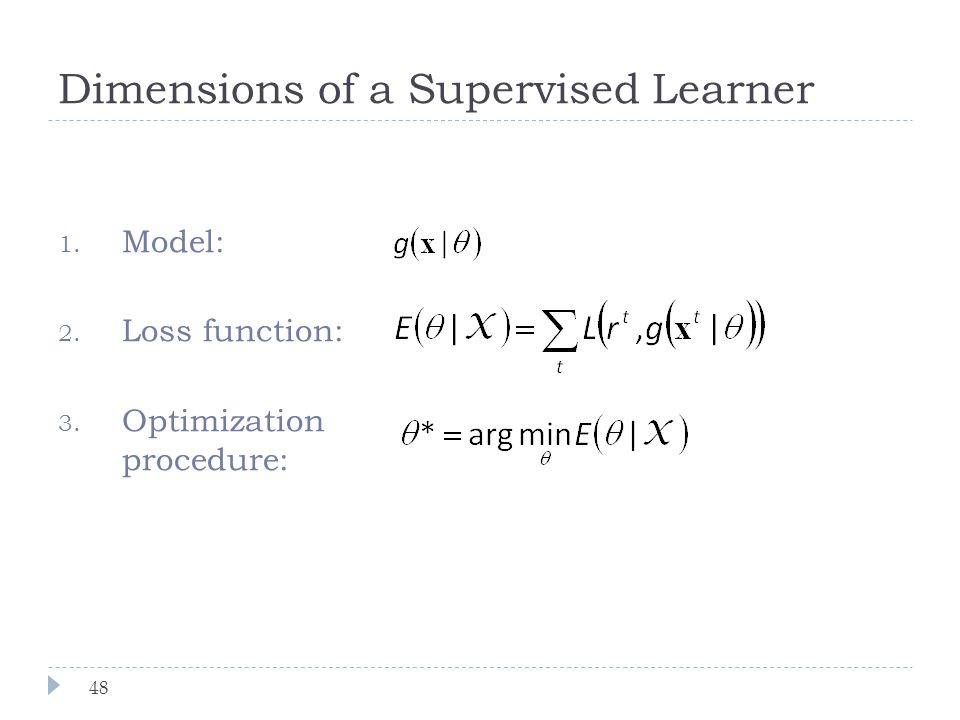 Dimensions of a Supervised Learner