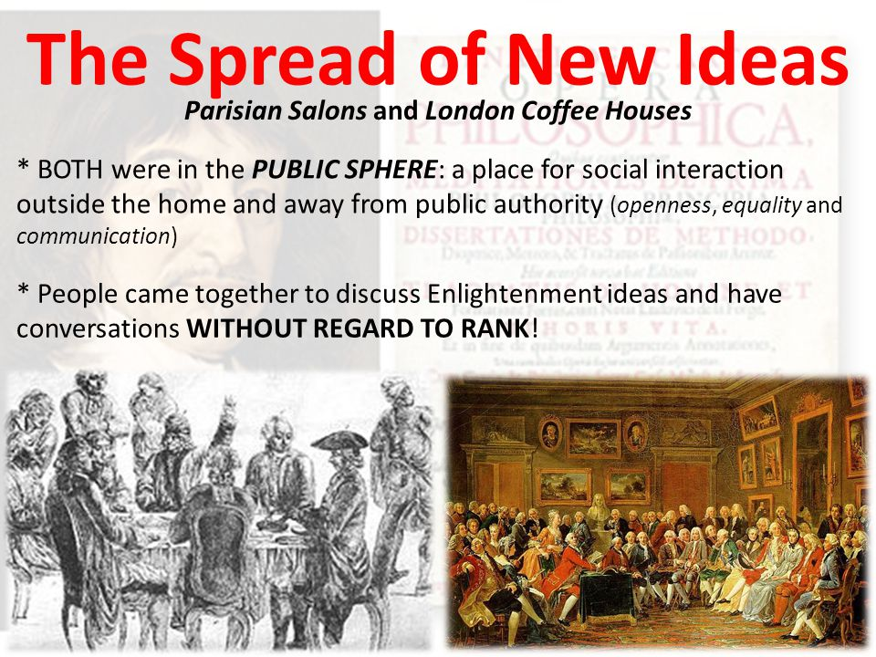 Parisian Salons and London Coffee Houses