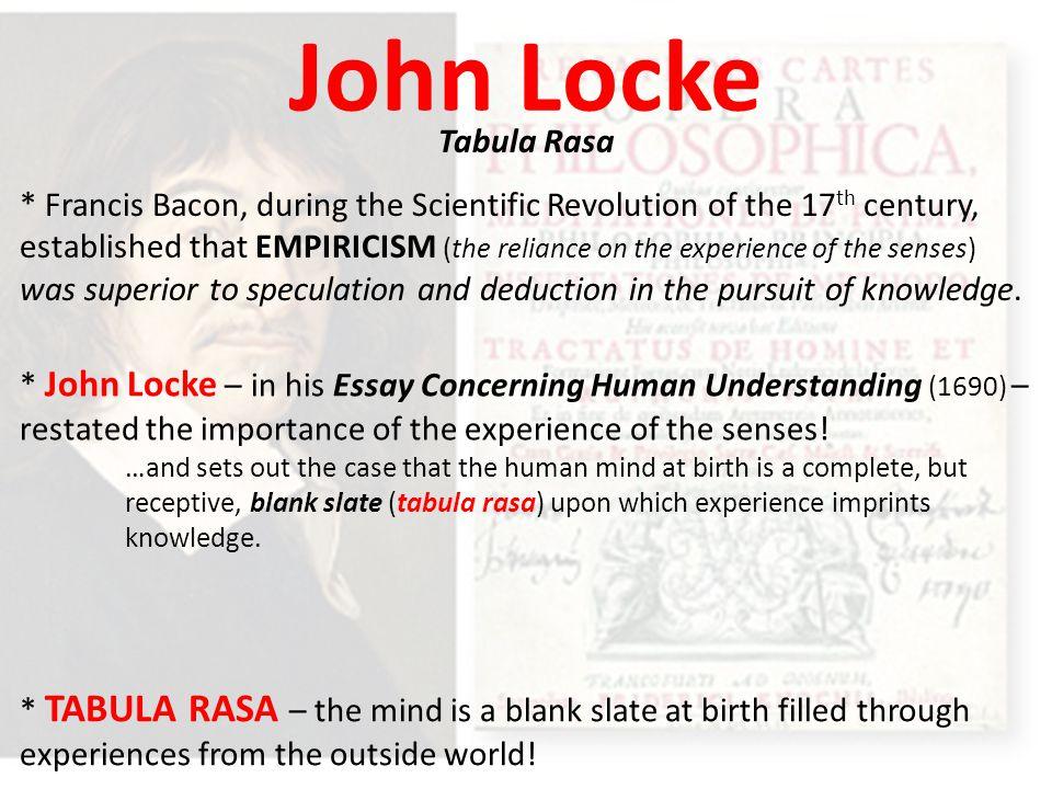 john locke mind essay