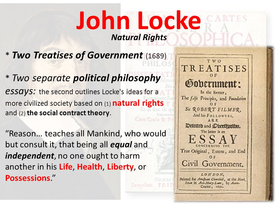 essay government john locke treatise two This one-page guide includes a plot summary and brief analysis of second treatise of government by john locke,  second treatise of government  deposed two.