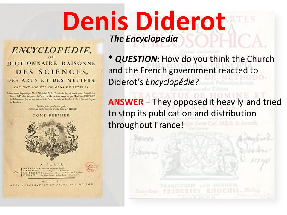 Denis Diderot The Encyclopedia
