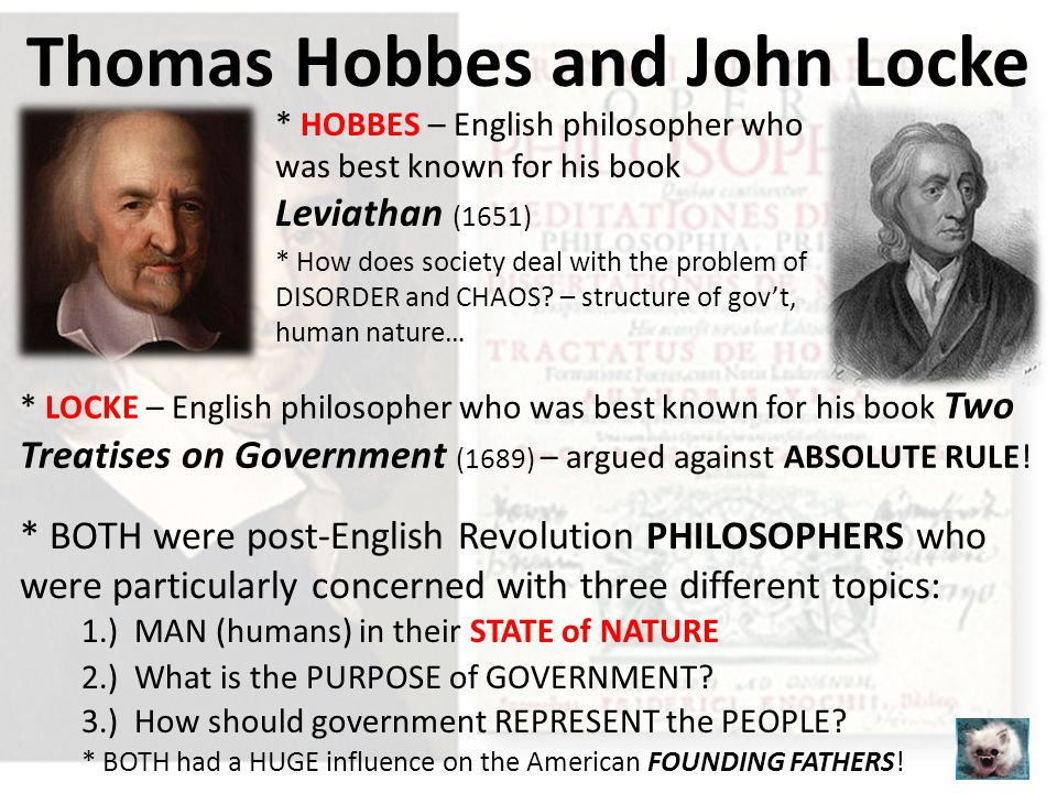 comparative politics john locke and thomas hobbes Contemporary political theorists remain divided over (1) whether a right to secede exists, and (2)  university of utah western political science association  thomas hobbes and john locke on a liberal right of secession.