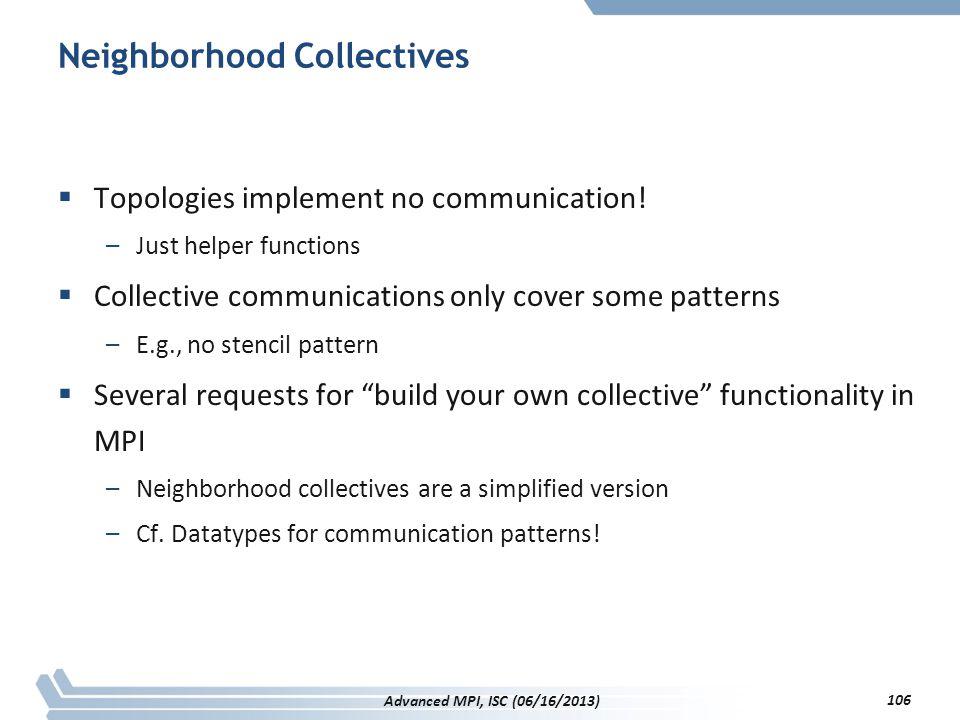 Neighborhood Collectives