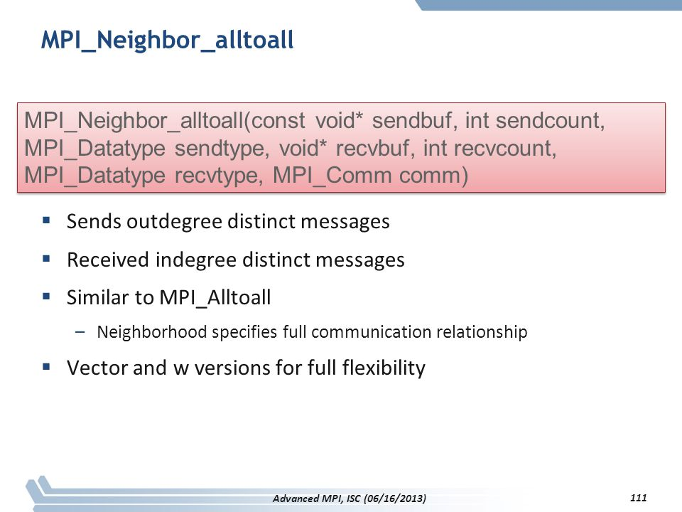 MPI_Neighbor_alltoall