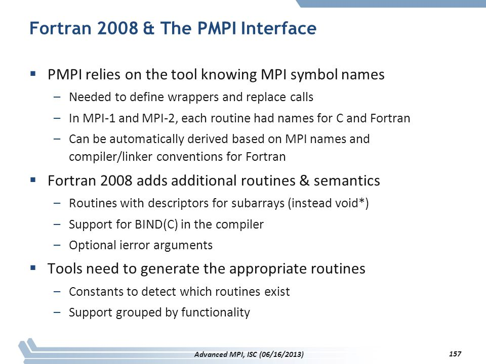 Fortran 2008 & The PMPI Interface