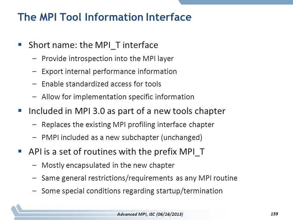The MPI Tool Information Interface